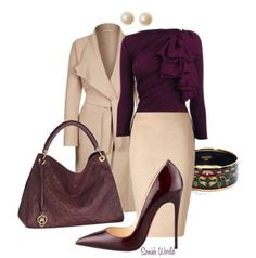 Gorgeous wine colored look for fall.