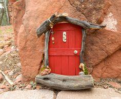 Red Sedona Fairy Door by SedonaFairyDoors on Etsy, $25.00