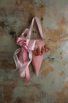 tickled pink fabric cone