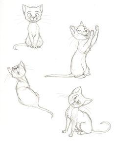 cat sketch cat sketches by PixarVixen. on deviantART - Masterarbeit - Illustration Sketches, Art Sketches, Illustrations, Cartoon Drawings, Cute Drawings, Cartoon Cats, Drawing Cartoon Animals, Cartoon Ideas, Animal Sketches