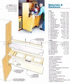 #1460 Folding Miter Saw Station Plans - Miter Saw Tips, Jigs and Fixtures