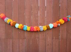 Hippie Party Pom Pom Banner by oftenwander on Etsy, $25.00