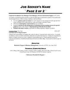 Resume Cover Letter Customer Service