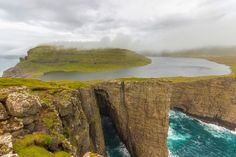 Lake Sorvagsvatn, Faroe Islands :: Wild how the sea appears to go under the lake above...