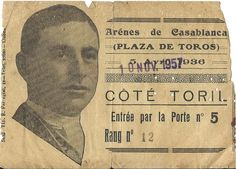 Les arenes de Tanger et Casablanca des annees 50...مصارع ثيران المغرب