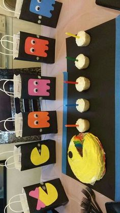Pacman Theme Birthday party ...hand made...Kaydin's 5th birthday party