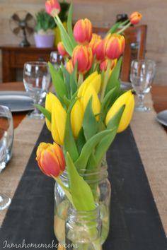 An idea for a simple Easter table