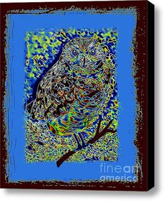 For The Love Of Owls Stretched Canvas Print / Canvas Art By Tisha Hill