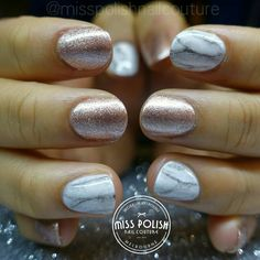 Marble nails. Nail art. Rose gold. Rose gold nails. Marble art. Gel nails. Gel polish. Miss Polish Nail Couture. Best nails Melbourne. Gel nails Melbourne.