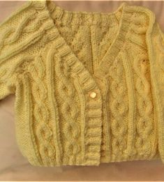 Girls Cable Cardigan, Choice of Long or Short Sleeves, Hand Knitted Girl's Clothes Cable Cardigan, Knitted Baby Clothes, Knitted Dolls, Baby Accessories, Baby Hats, Baby Knitting, Cute Babies, Doll Clothes, Girl Outfits