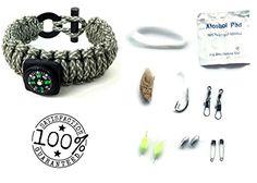 Camouflage Paracord Survival Bracelet 16 piece Kit by JMG Outdoors