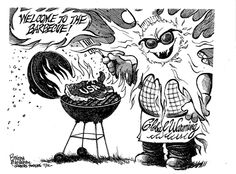 Grilling the USA.  By Steve Benson #GoComics #PoliticalCartooon #GlobalWarming #ClimateChange