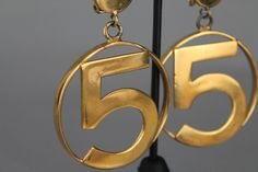 RARE AND COVETED CHANEL NO.5 EARRINGS AVAILABLE NOW FROM CAT APOLINAR VINTAGE   EMAIL CAT@CATAPOLINAR.COM  OR  SHOP AT WWW.CATAPOLINAR.COM