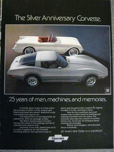 1978 Corvette Silver Anniversary Advertisement