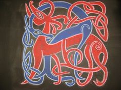 Waldorf ~ 4th grade ~ Form Drawing ~ Celtic Knot ~ chalkboard drawing
