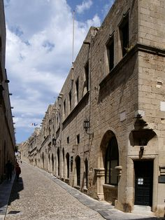 """""""Avenue of the Knights"""" (Rhodes, Greece)"""