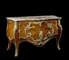 A Louis XV style gilt bronze mounted marquetry and kingwood commode, fourth quarter 19th century