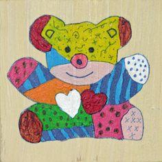 kleurrijk bordje beer