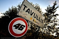 """Not only is this the home of Valentino Rossi, but in the Valentino Rossi museum in the town, they even have one of my pictures, """"The Pass"""", adorning the wall.."""