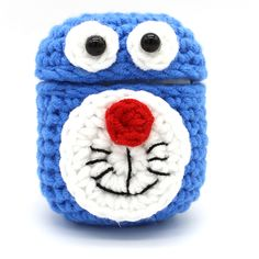 Buy Airpods Bluetooth Cartoon Earphone Protective Sleeve Wool Hand-Knitted Crochet Case, Knit Crochet, Earphone Case, Airpod Case, Crochet Accessories, Hand Knitting, Free Pattern, Diy And Crafts, Bluetooth