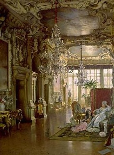 William Logsdail, A Venetian Interior of the 18th Century.