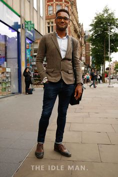 Men's Street Style   Smart Casual - Leaning towards the smarter side of smart casual, the blazer means you can be set for meeting as well as after work drinks.   Shop the look at The Idle Man