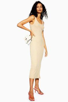 d27bcb3bb3e Topshop Natural Column Midi Dress