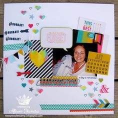 nice people STAMP!: Stampin' Up! Convention 2014 Display Board Project 1: Project Life Scrapbook Page by Allison Okamitsu