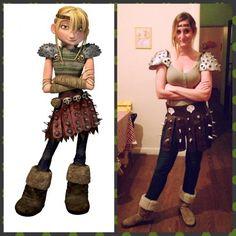 @ineroitman costume party Halloween diy homemade astrid how to train your dragon como entrenar a tu dragon