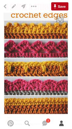 Crochet Patterns For Edging 5 Crochet Edges To Have In Your Arsenal We Love Crochet Crochet Patterns For Edging Crochet Borders 3 The Little Flowers Bordure Crochet. Crochet Patterns For Edging Lovely Crochet Edging Patterns Ideas Hat. Crochet Simple, Crochet Diy, Love Crochet, Learn To Crochet, Crochet Crafts, Scarf Crochet, Hand Crochet, Crochet Baby Stuff, Things To Crochet