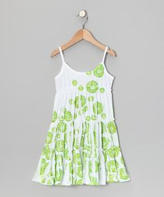Lime Daisy Tiered Dress - Toddler & Girls by Happy Kids for Kids on #zulily today!