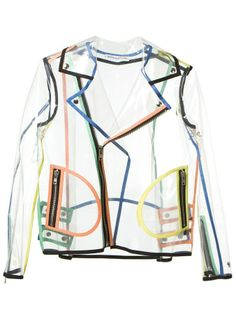 Transparent biker jacket by Wanda Nylon.
