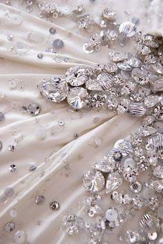 Glittery diamonds