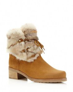 f342bb4bae1 Stuart Weitzman Furnace Mink Fur and Suede Booties Shoes - Boots - Ankle  Boots - Bloomingdale s