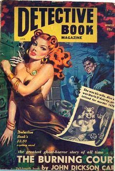 "philsp.com Winter 1952-1953 issue cover by Allen Anderson John Dickson Carr, The Burning Court, abridged version of 1937 Harper hardcover Stewart Sterling, ""Terror Afloat"", (Steve Koski), first..."