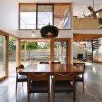 """""""The Nest"""" features a warm wooded deck, concrete floors, high ceilings and a """"floating"""" study. Photos: Emma Cross."""