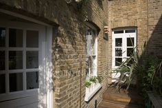 Garden terrace from a contemporary refurbishment of a Victorian terrace house