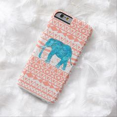 It's a cool iPhone 6 Case! This Whimsical Teal Paisley Elephant Pink Aztec Pattern iPhone 6 Case is ready to be personalized or purchased as is. It's a perfect gift for you or your friends.