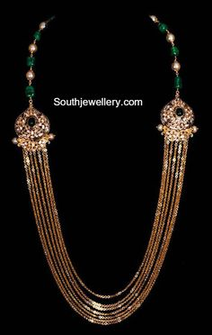 Elegant Antique Gold Chandraharam photo