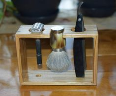 Check out this item in my Etsy shop https://www.etsy.com/listing/483275660/ash-razor-and-brush-shave-stand-with