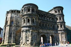 Porta Nigra in Trier, Germany - Trier is the oldest city in Germany having been founded circa 16 BC or earlier... this building was built between 186 and 200! #europe #travel
