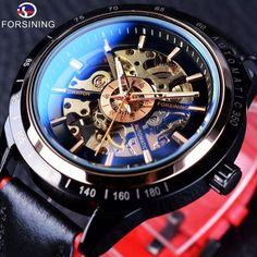 Automatic Skeleton Watch, Automatic Watch, Seiko Diver, Bracelet Sport, Ring Bracelet, Sport Mode, Mechanical Clock, Skeleton Watches, Races Fashion