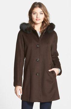 4be792896ba Ellen Tracy Kimono Sleeve Jacket with Genuine Fox Fur Trim (Online Only)