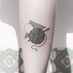 Yarn ball for Sara - done at Ericeira tattoo camp #tattoo #tattrx…