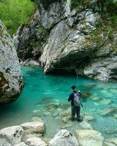 "50 Likes, 1 Comments - Lesly Janssen (@leslyjanssen) on Instagram: ""Pretty cool spot to cast a fly #SLOFLYCOM #flyfishingslovenia #flyfishing #flugfiske #pescamosca…"""