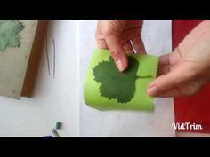 Как сделать листья без молда фоамиран - YouTube