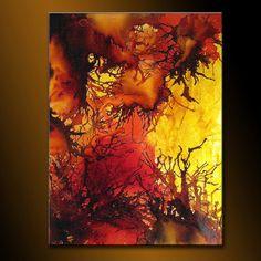 Original Contemporary Modern Colorful Canvas von newwaveartgallery