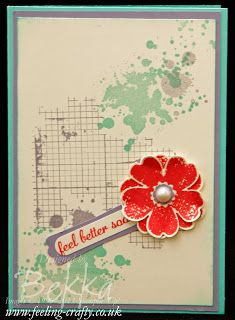 Flower Shop Get Well Soon Card from UK based Stampin' Up! Demonstrator Bekka Prideaux - she can supply you with everything you need to make this card :-)