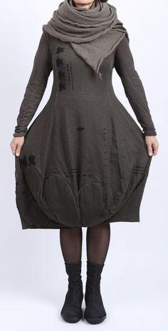 Rundholz black label strickjacke tweed mit t ll bungee for Blumenkinder kleider berlin