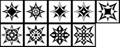 Get Free Custom Shapes for Photoshop and Photoshop Elements: Free Custom Shapes - Starburst Shapes